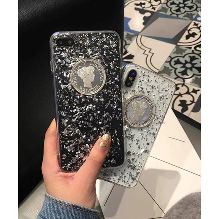 スマホケース iPhone7 iPhone8 iPhonex iPhone ケース iPhone6 6 6Plus 7 7Plus88Plus スマホケース x iPhoneケース アイフォン かわいい スマホケース スマホカバー ケース おしゃれ コインクリアキラキラ シルバー SE2 ipc202 3