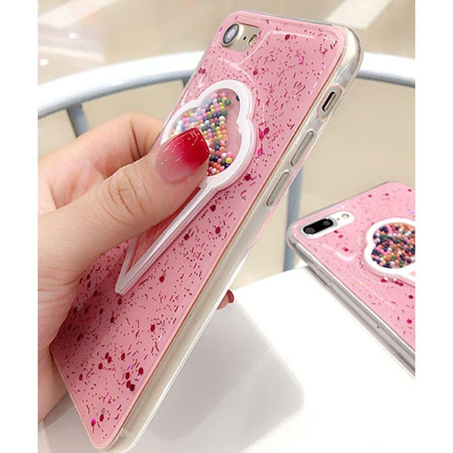 スマホケース iPhone7 iPhone8 iPhonex iPhone ケース iPhone6 6 6Plus 7 7Plus 88Plus スマホケース x iPhoneケース iphoneカバー かわいい スマホケース スマホカバー おしゃれ 新作 キラキラ3D アイスクリーム 夏 ピンク SE2 ipc205 2