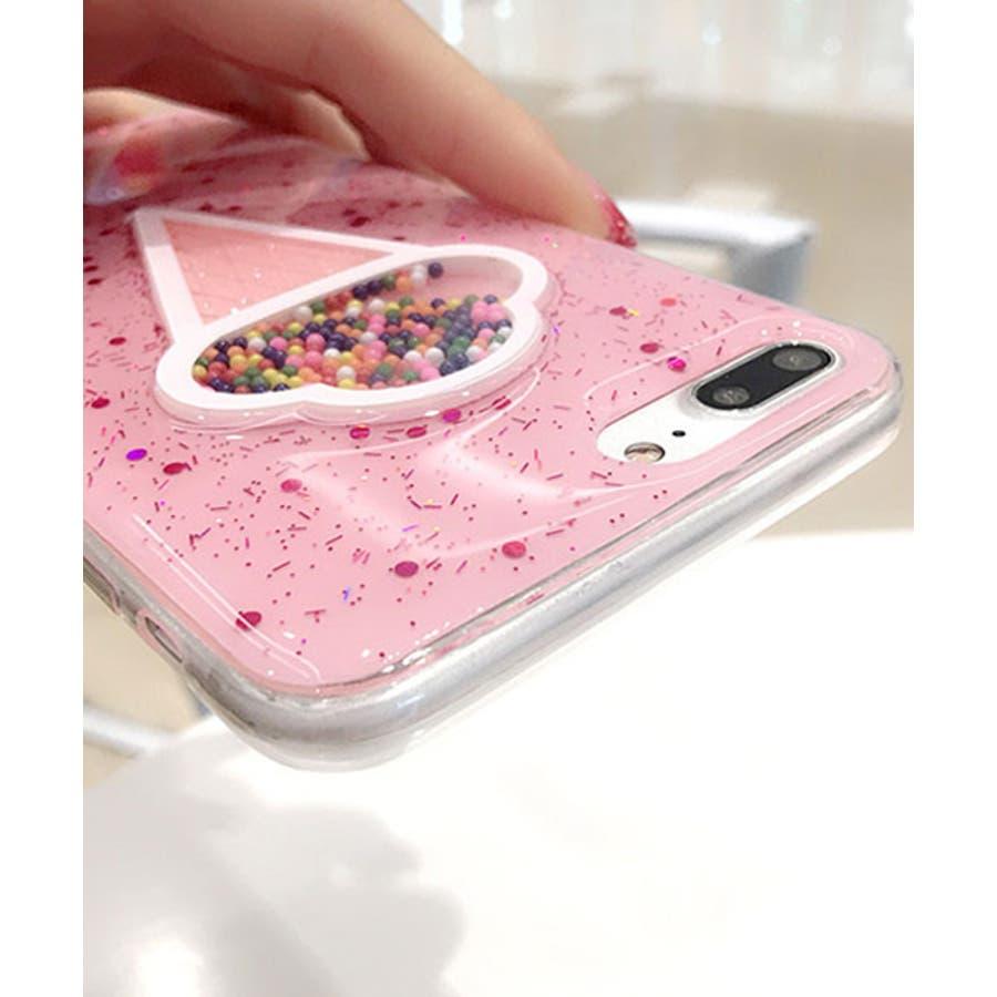 スマホケース iPhone7 iPhone8 iPhonex iPhone ケース iPhone6 6 6Plus 7 7Plus 88Plus スマホケース x iPhoneケース iphoneカバー かわいい スマホケース スマホカバー おしゃれ 新作 キラキラ3D アイスクリーム 夏 ピンク SE2 ipc205 3