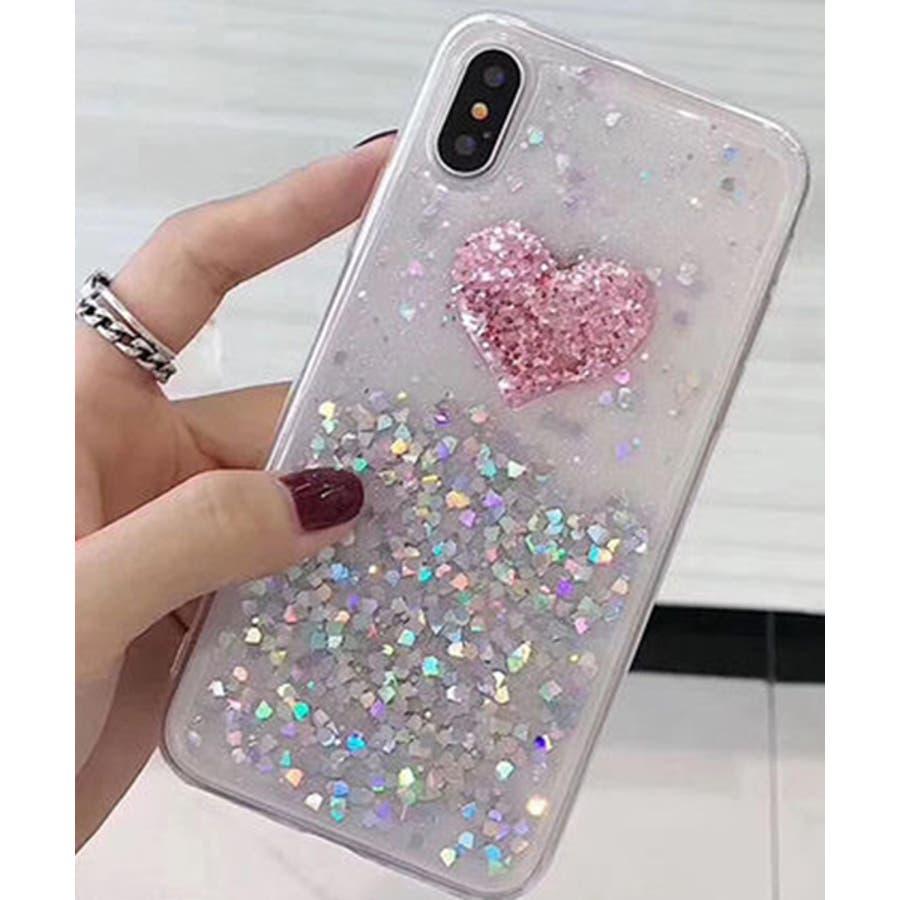 スマホケース iPhone7 iPhone8 iPhonex iPhone ケース iPhone6 6 6Plus 7 7Plus88Plus スマホケース x iPhoneケース iphoneカバー かわいい スマホカバー おしゃれ キラキラ レッド ピンクラメ グリッター スパンコール SE2 ipc221 4