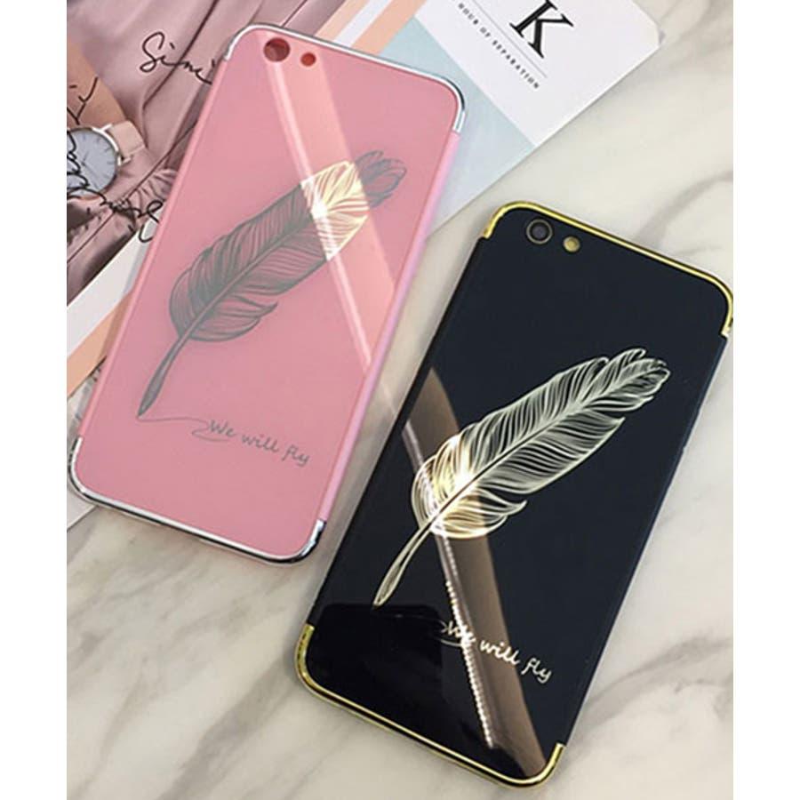 スマホケース iPhone7 iPhone8 iPhonex iPhone ケース iPhone6 6 6Plus 7 7Plus88Plus スマホケース x iPhoneケース iphoneカバー かわいい スマホケース スマホカバー おしゃれ 羽フェザーネイティブ ブラック ピンク ミラー SE2 ipc233 1