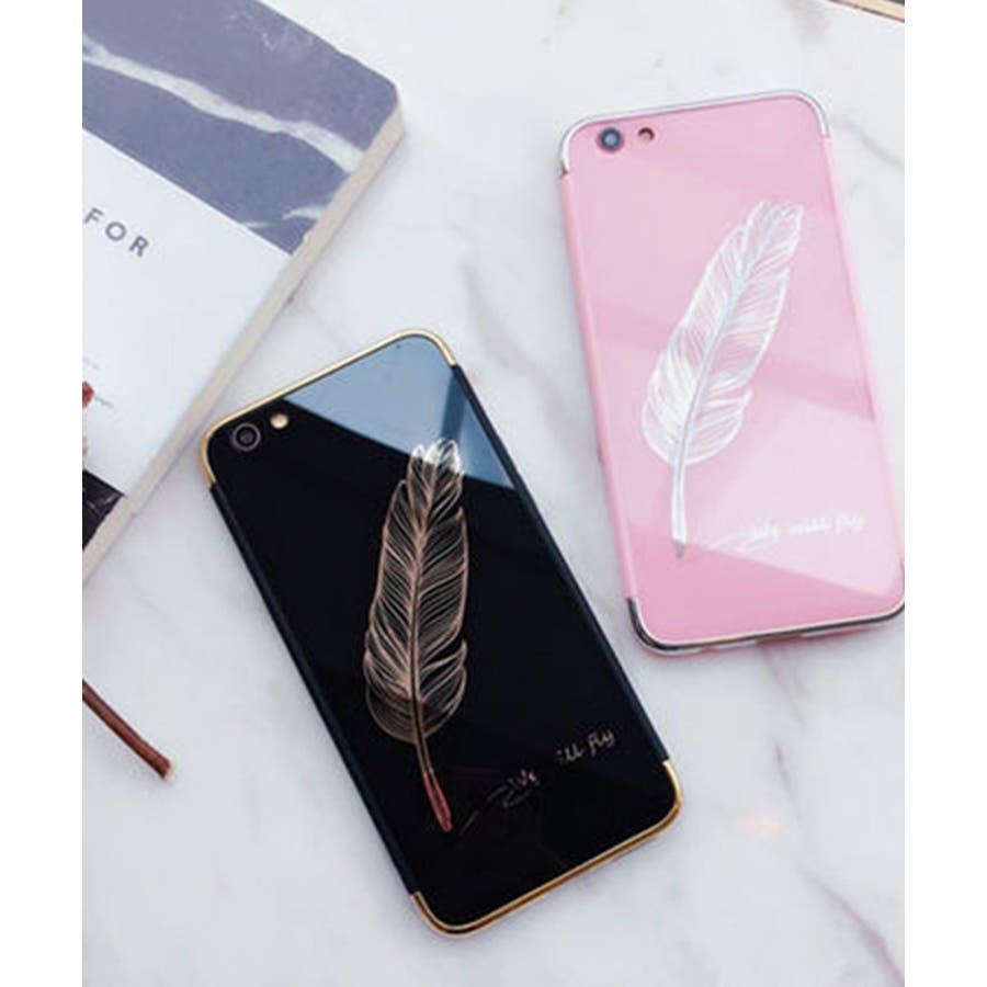 スマホケース iPhone7 iPhone8 iPhonex iPhone ケース iPhone6 6 6Plus 7 7Plus88Plus スマホケース x iPhoneケース iphoneカバー かわいい スマホケース スマホカバー おしゃれ 羽フェザーネイティブ ブラック ピンク ミラー SE2 ipc233 2