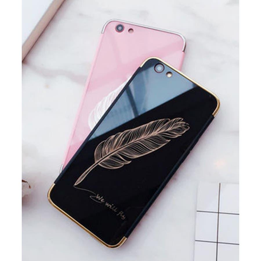 スマホケース iPhone7 iPhone8 iPhonex iPhone ケース iPhone6 6 6Plus 7 7Plus88Plus スマホケース x iPhoneケース iphoneカバー かわいい スマホケース スマホカバー おしゃれ 羽フェザーネイティブ ブラック ピンク ミラー SE2 ipc233 3