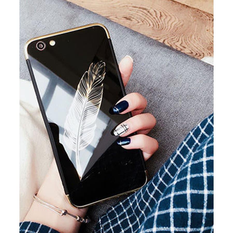 スマホケース iPhone7 iPhone8 iPhonex iPhone ケース iPhone6 6 6Plus 7 7Plus88Plus スマホケース x iPhoneケース iphoneカバー かわいい スマホケース スマホカバー おしゃれ 羽フェザーネイティブ ブラック ピンク ミラー SE2 ipc233 5