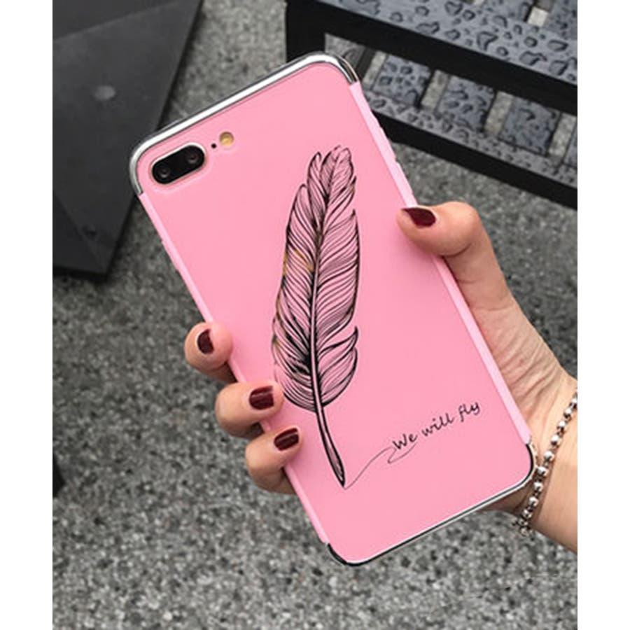 スマホケース iPhone7 iPhone8 iPhonex iPhone ケース iPhone6 6 6Plus 7 7Plus88Plus スマホケース x iPhoneケース iphoneカバー かわいい スマホケース スマホカバー おしゃれ 羽フェザーネイティブ ブラック ピンク ミラー SE2 ipc233 87