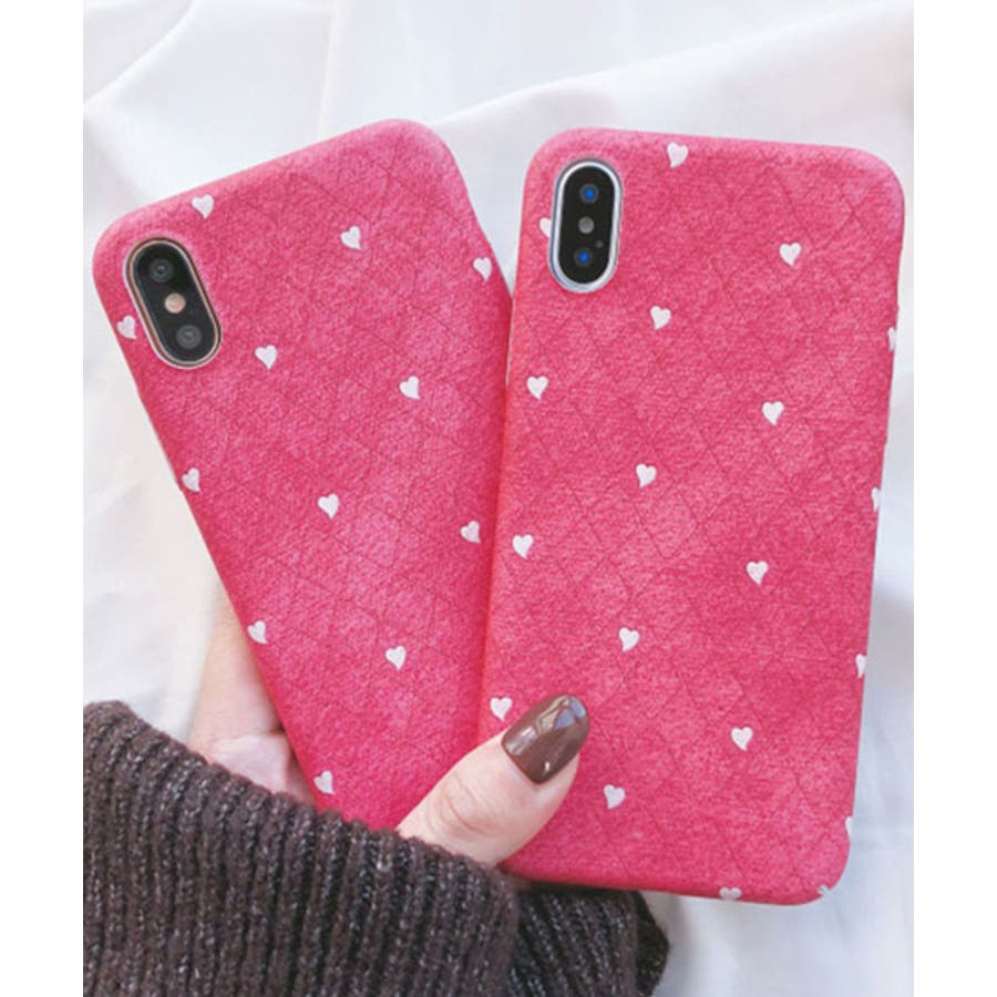 スマホケース iPhone7 iPhone8 iPhonex iPhone ケース iPhone6 6 6Plus 7 7Plus 88Plus スマホケース x iPhoneケース iphoneカバー かわいい スマホケース スマホカバー おしゃれ ピンク ホワイトハート ドット キルティング風 ダイヤ柄 SE2 ipc269 1
