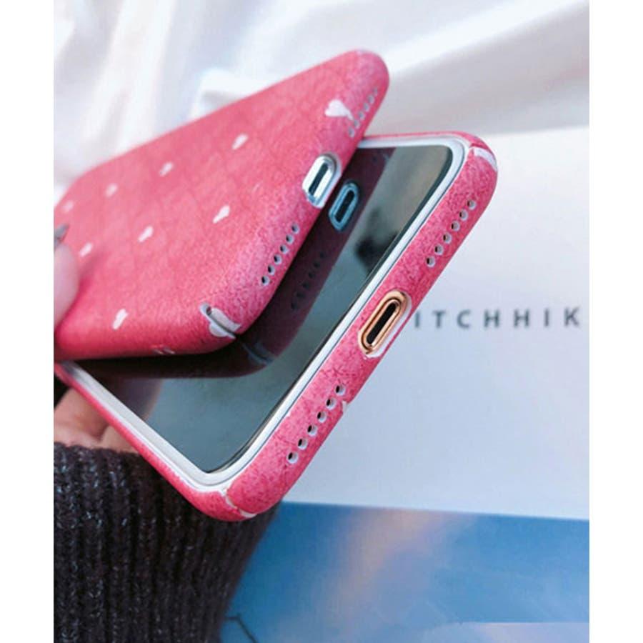 スマホケース iPhone7 iPhone8 iPhonex iPhone ケース iPhone6 6 6Plus 7 7Plus 88Plus スマホケース x iPhoneケース iphoneカバー かわいい スマホケース スマホカバー おしゃれ ピンク ホワイトハート ドット キルティング風 ダイヤ柄 SE2 ipc269 2