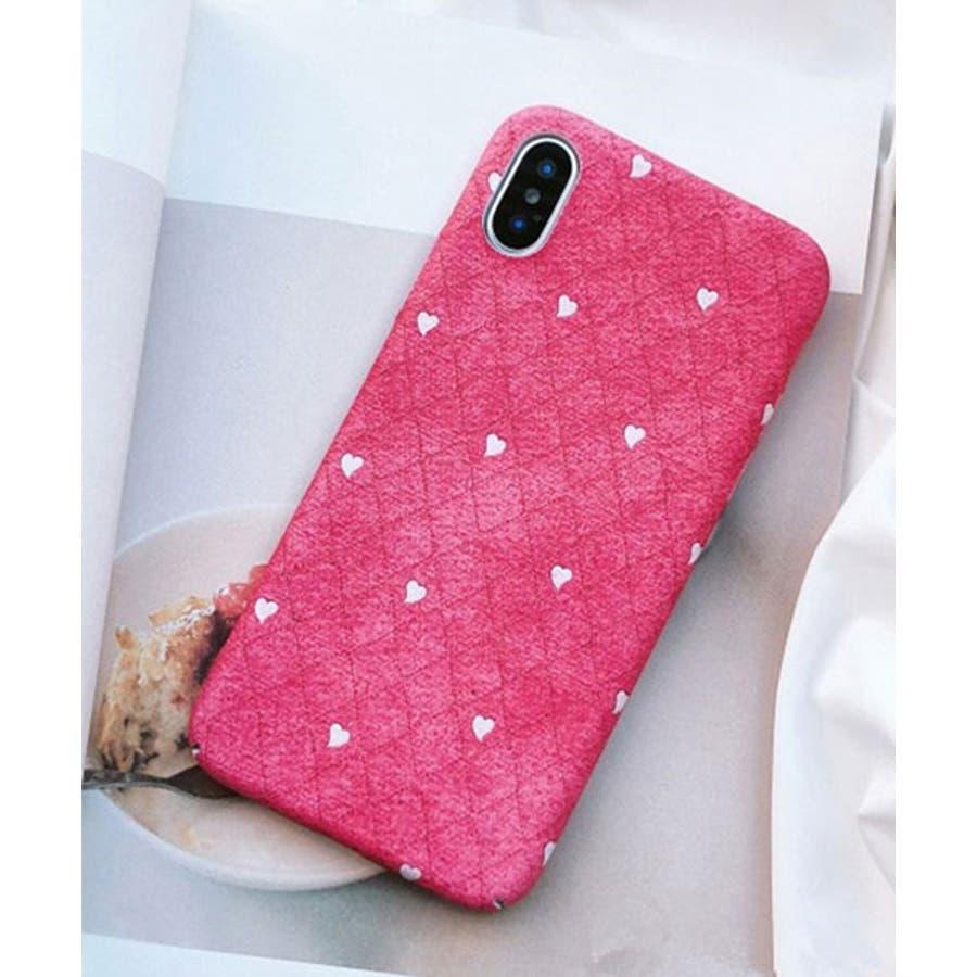 スマホケース iPhone7 iPhone8 iPhonex iPhone ケース iPhone6 6 6Plus 7 7Plus 88Plus スマホケース x iPhoneケース iphoneカバー かわいい スマホケース スマホカバー おしゃれ ピンク ホワイトハート ドット キルティング風 ダイヤ柄 SE2 ipc269 4