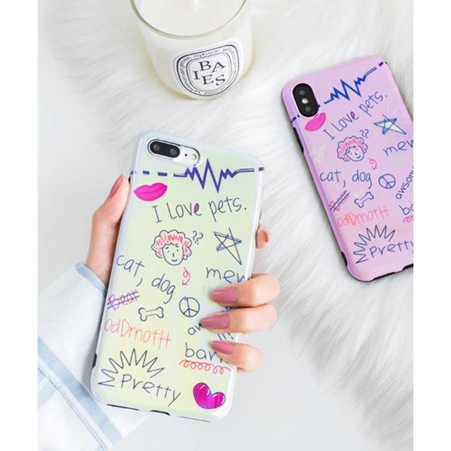 スマホケース iPhone7 iPhone8 iPhonex iPhone ケース iPhone6 6 6Plus 7 7Plus 88Plus x iPhoneケース iphoneカバー かわいい スマホカバー おしゃれ スマートフォンカバー iPhoneケース手書き風 アート 女の子 アメコミ SE2 ipc385 1
