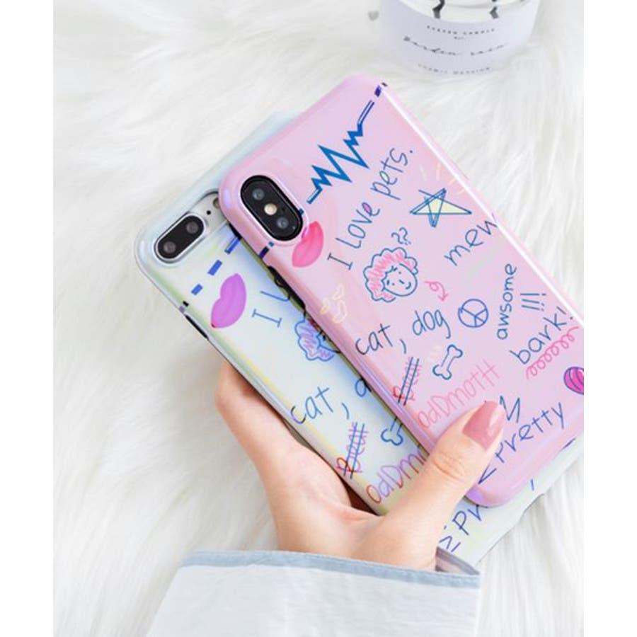 スマホケース iPhone7 iPhone8 iPhonex iPhone ケース iPhone6 6 6Plus 7 7Plus 88Plus x iPhoneケース iphoneカバー かわいい スマホカバー おしゃれ スマートフォンカバー iPhoneケース手書き風 アート 女の子 アメコミ SE2 ipc385 4