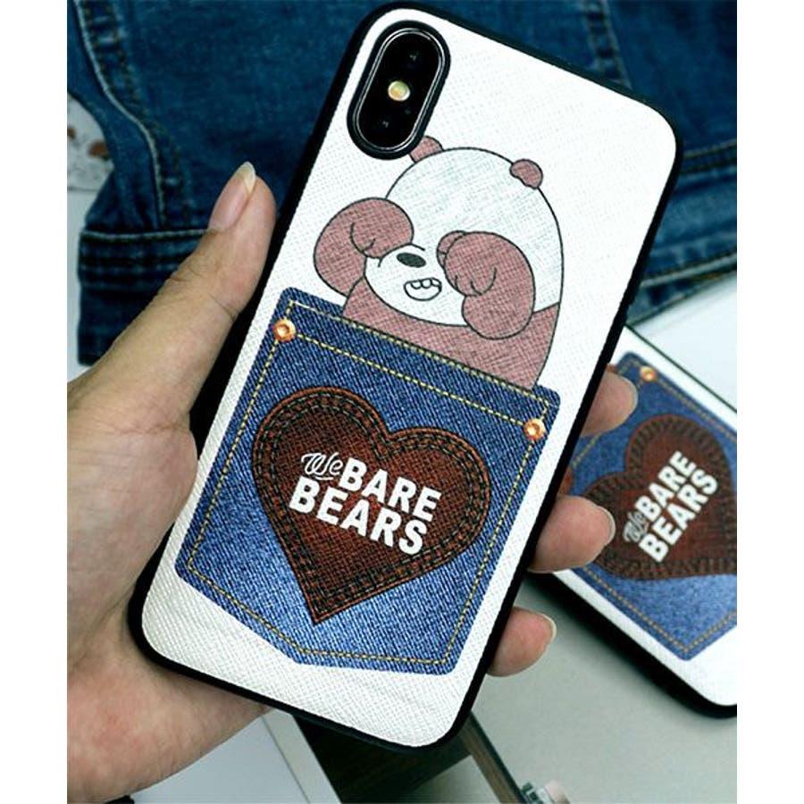 新作 スマホケース iPhone7 iPhone8 iPhonex iPhone ケース iPhone6 6 6Plus 77Plus8 8Plus x iPhoneケース アイフォン かわいい スマホカバー おしゃれ スマートフォンカバーiphoneケースカード収納 クマ パンダ ブラック ホワイト SE2 ipc462 3
