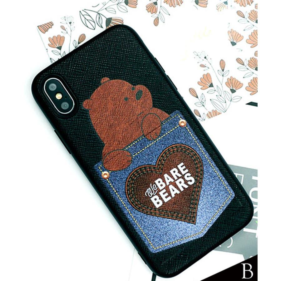 新作 スマホケース iPhone7 iPhone8 iPhonex iPhone ケース iPhone6 6 6Plus 77Plus8 8Plus x iPhoneケース アイフォン かわいい スマホカバー おしゃれ スマートフォンカバーiphoneケースカード収納 クマ パンダ ブラック ホワイト SE2 ipc462 22