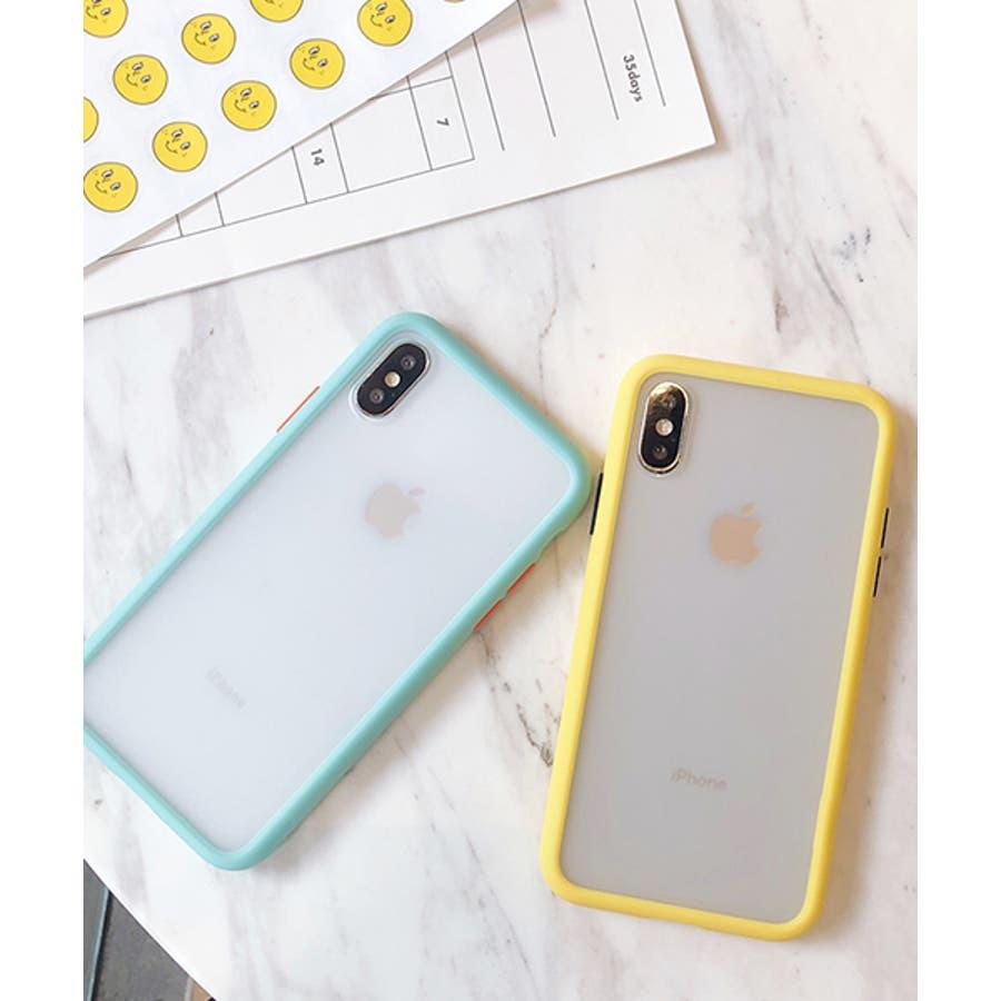 スマホケース アイフォンケース スマホカバー アイフォンカバー iPhoneケース iPhonexrケース IphoneXs XRXs Max 7 7plus 8 8plus 10 11 11pro 11promax クリア 透明 バンパー風 フレーム 半透明無地 シンプル SE2 ipc486 2200 3