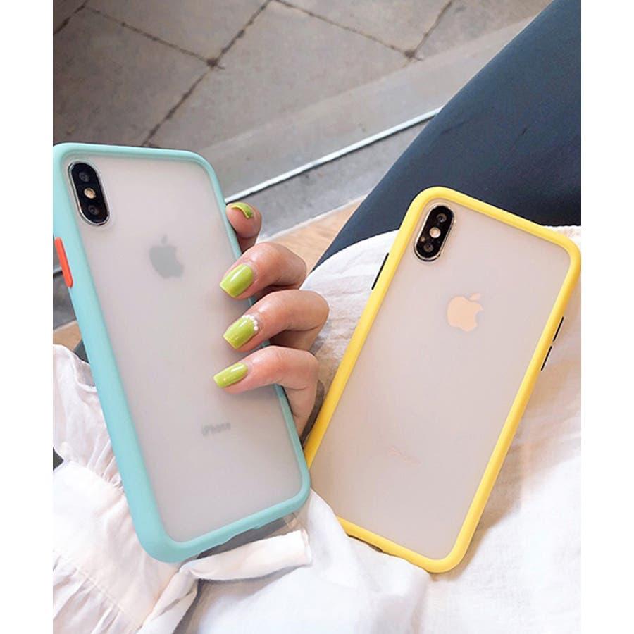 スマホケース アイフォンケース スマホカバー アイフォンカバー iPhoneケース iPhonexrケース IphoneXs XRXs Max 7 7plus 8 8plus 10 11 11pro 11promax クリア 透明 バンパー風 フレーム 半透明無地 シンプル SE2 ipc486 2200 5