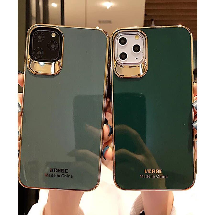 スマホケース アイフォンケース スマホカバー アイフォンカバー iPhoneケース iPhonexrケース IphoneXs XRXs Max 7 7plus 8 8plus 10 11 11pro 11promax フレームカラー ゴールド シンプル 無地SE2 ipc488 2480 3