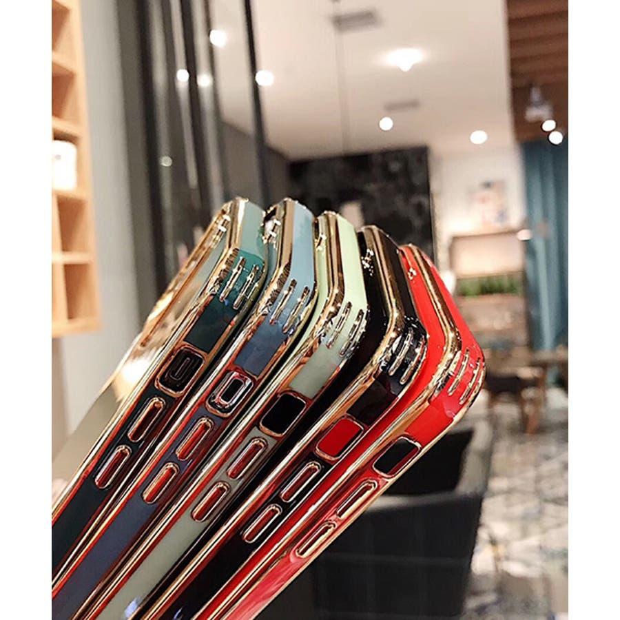 スマホケース アイフォンケース スマホカバー アイフォンカバー iPhoneケース iPhonexrケース IphoneXs XRXs Max 7 7plus 8 8plus 10 11 11pro 11promax フレームカラー ゴールド シンプル 無地SE2 ipc488 2480 4