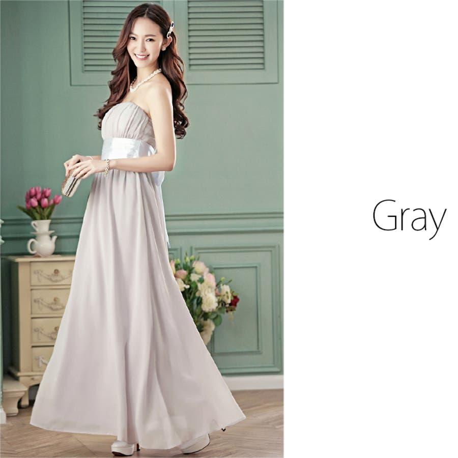 d98d9307583cd 2次会 グレー チュールスカート 結婚式 大きいサイズ有 パーティードレス ベアトップ ネイビー