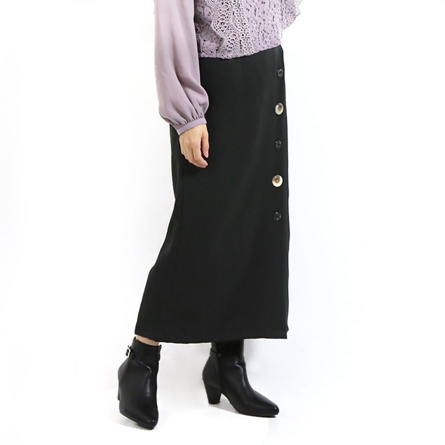 ボタンラップ風スカート◆スカート 冬物 タイトスカート 21