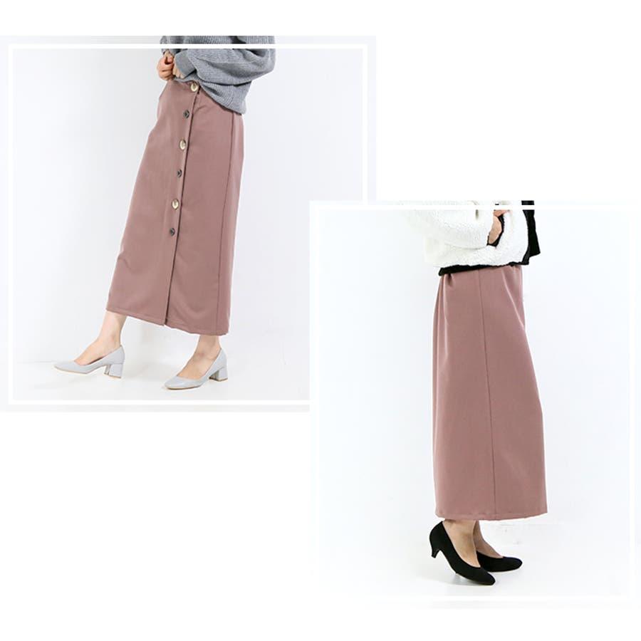 ボタンラップ風スカート◆スカート 冬物 タイトスカート 8
