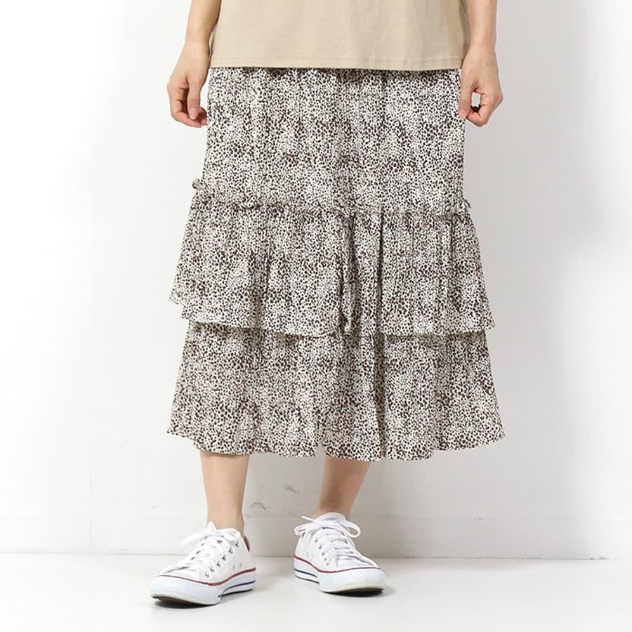 花柄ティアードスカート◆スカート 膝下丈 花柄 夏物 ティアードスカート レディース ファッション 春夏 2020SS新作 41