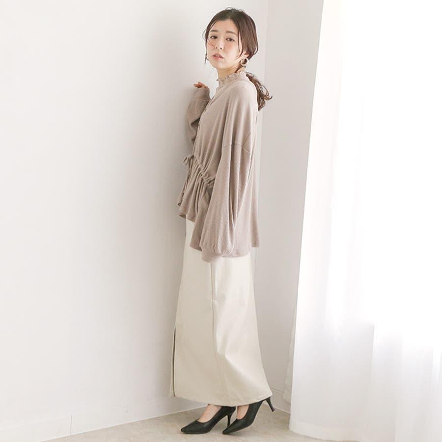 フェイクレザーストレートスカート◆スカート レザースカート ロングスカート 18