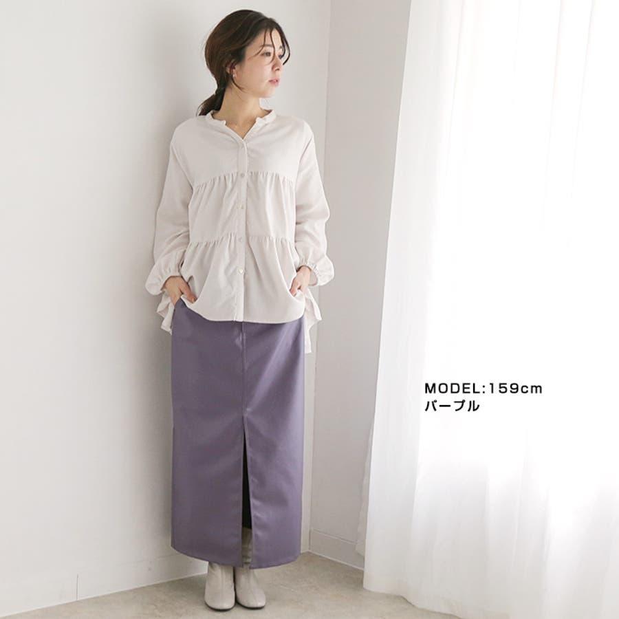 フェイクレザーストレートスカート◆スカート レザースカート ロングスカート 5