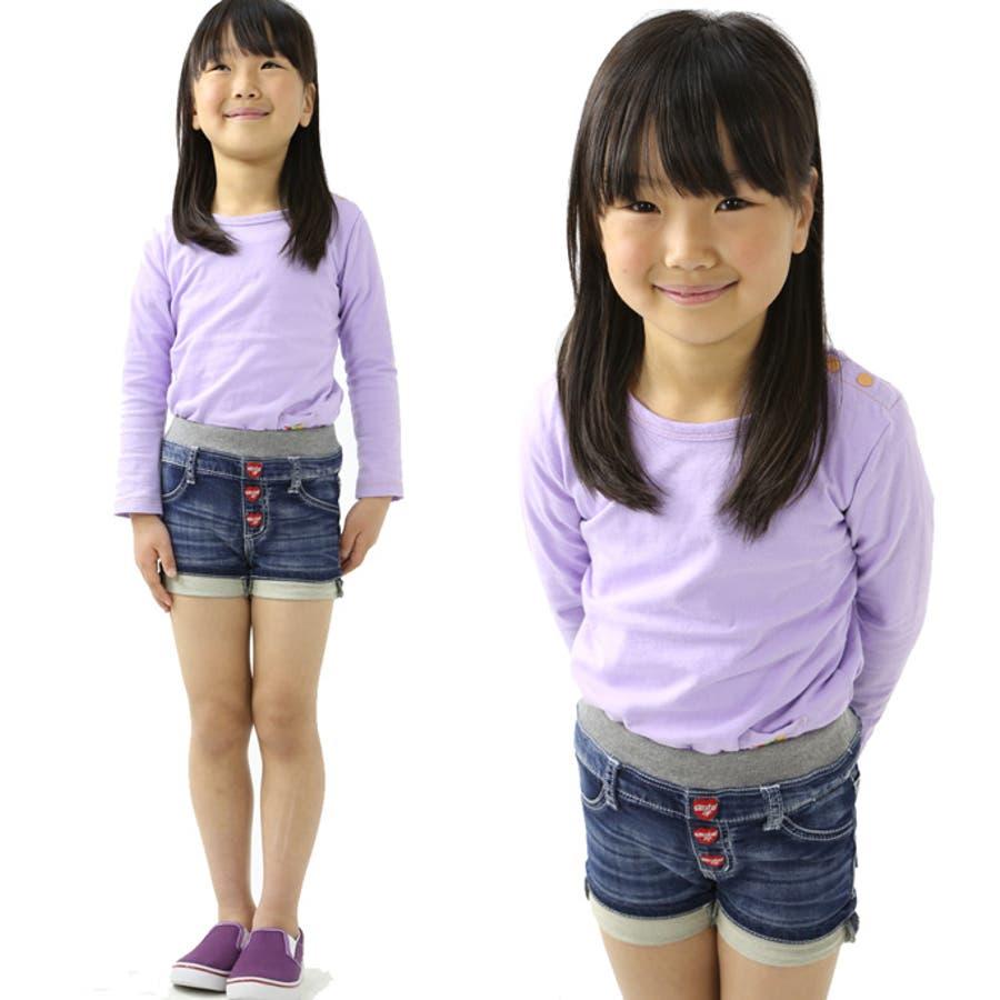 キッズ ショート パンツ デニム 2014SS ジーンズ ズボン ウエストゴム らくらく ハーフ 女の子 男の子スクールトドラー通販