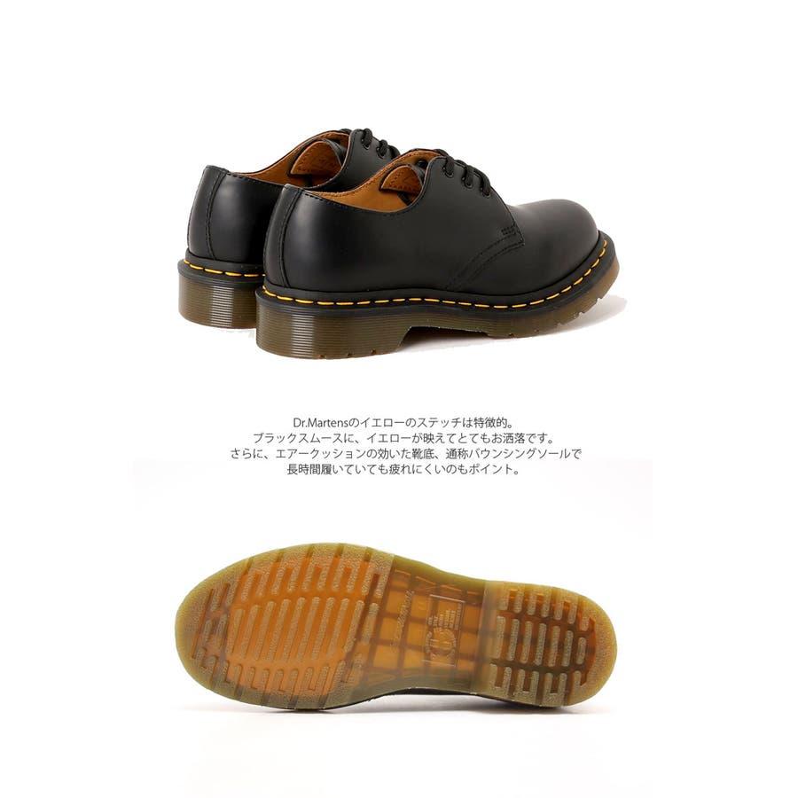 ドクターマーチン Dr.Martens 3ホール ギブソン 1461 黒 赤 ブラック レッド 3HOLE GIBSON マーチンフラットシューズ メンズ レディース 靴 シューズ レザー プレーントゥ 11838002 3EYE 男女兼用 靴 正規品 1461カジュアル トレンド 2