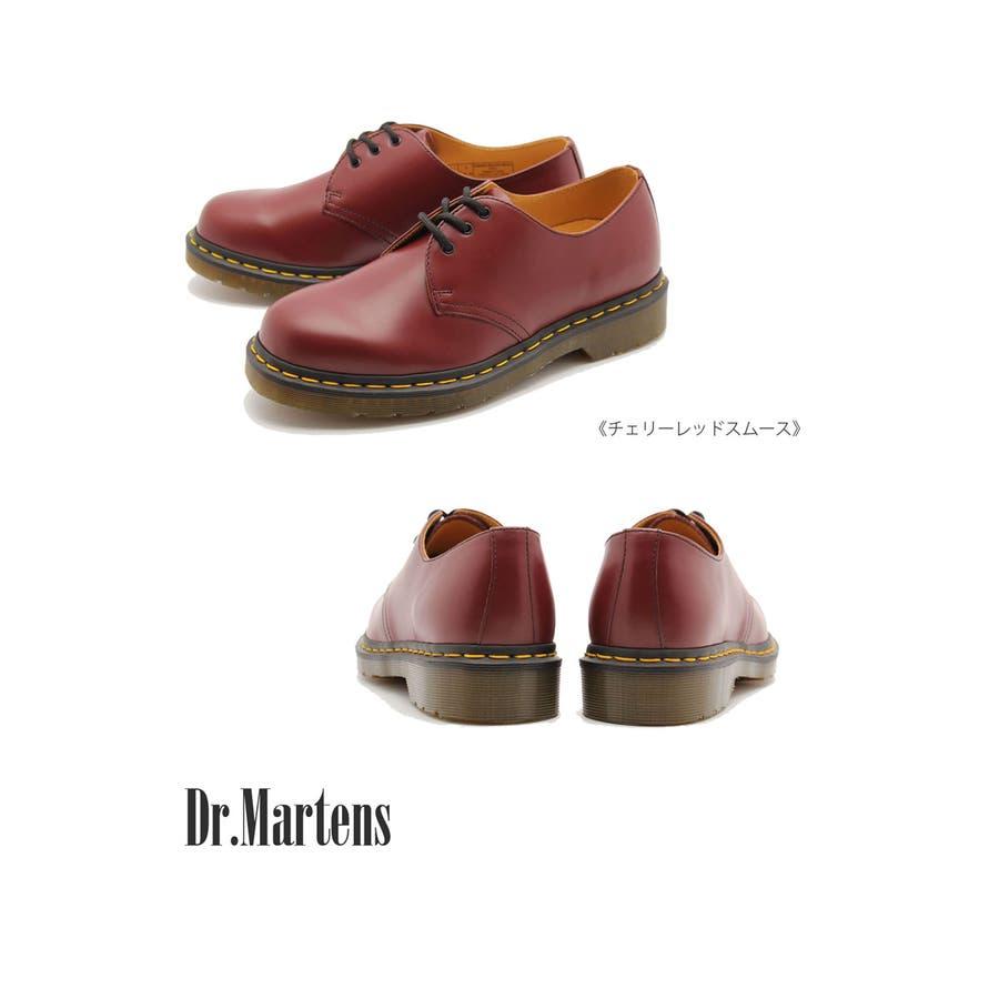 ドクターマーチン Dr.Martens 3ホール ギブソン 1461 黒 赤 ブラック レッド 3HOLE GIBSON マーチンフラットシューズ メンズ レディース 靴 シューズ レザー プレーントゥ 11838002 3EYE 男女兼用 靴 正規品 1461カジュアル トレンド 94