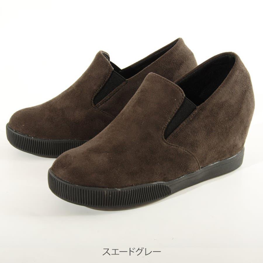 秋新作 大きいサイズ 靴 インヒール スリッポン スニーカー060 パンプス フラット/大きいサイズ 3