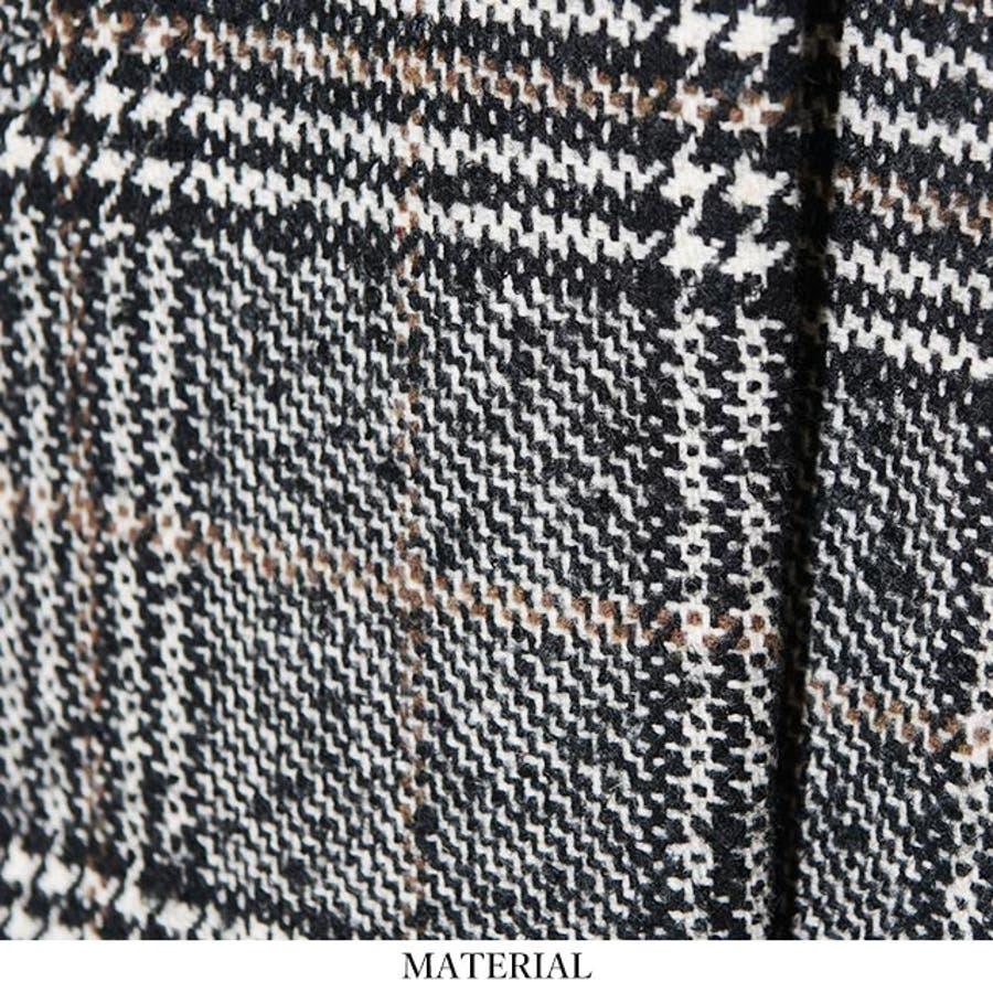 冬新作 グレンチェックロングコート アウター 羽織 レディースコート グレンチェック 8