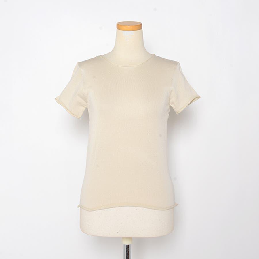 秋新作 薄手ニットトップス ma トップス カットソー レディース 薄手 Tシャツ シンプル 2