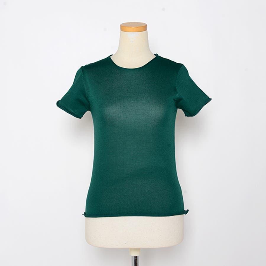 秋新作 薄手ニットトップス ma トップス カットソー レディース 薄手 Tシャツ シンプル 3