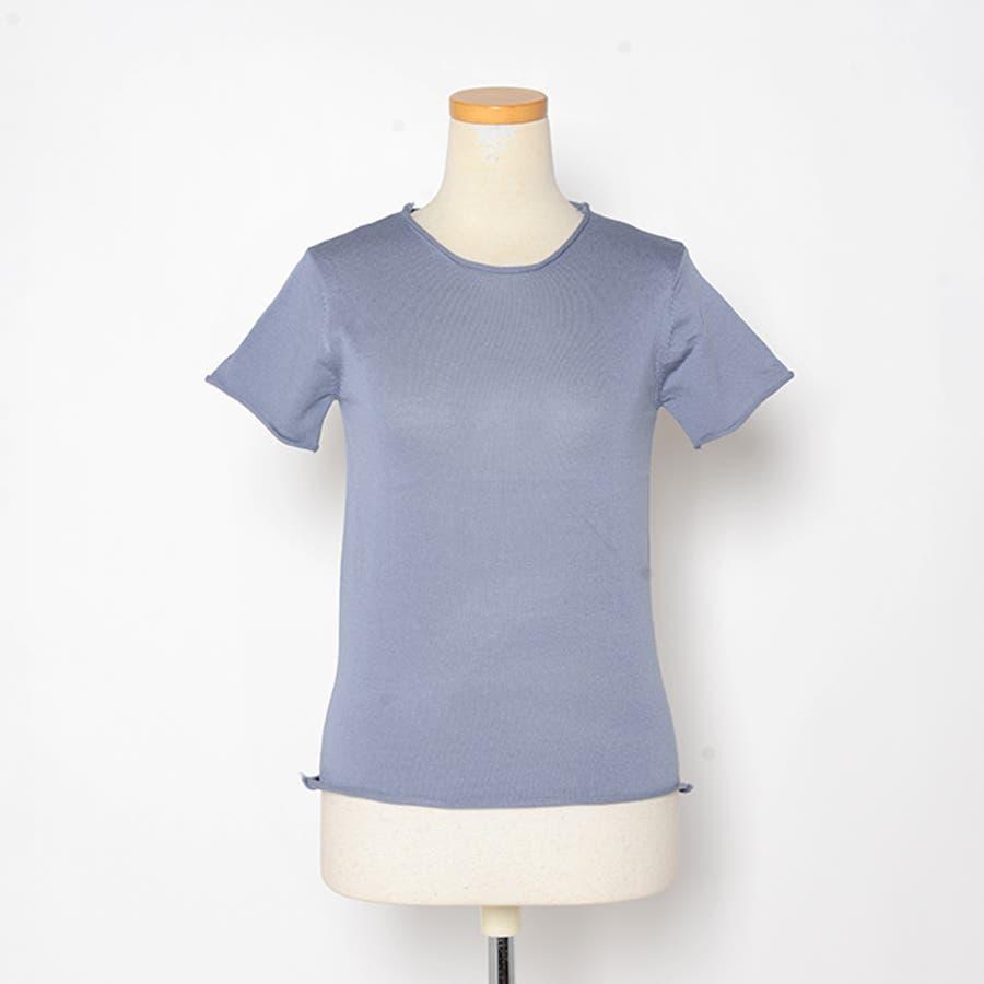 秋新作 薄手ニットトップス ma トップス カットソー レディース 薄手 Tシャツ シンプル 4