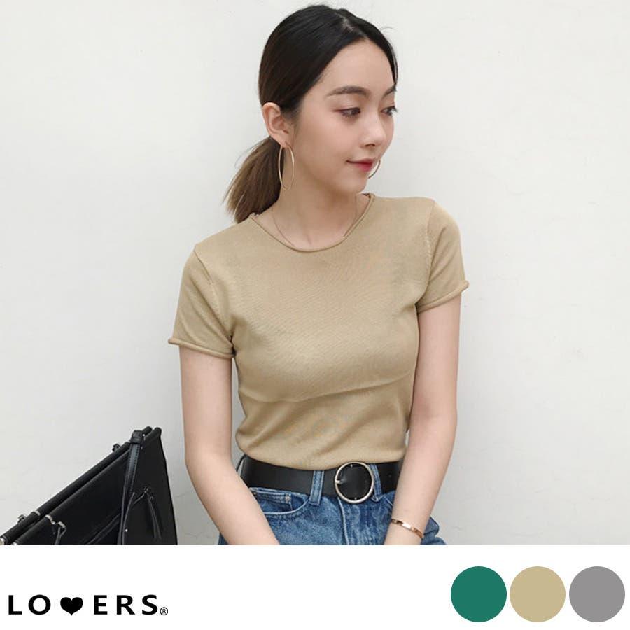 秋新作 薄手ニットトップス ma トップス カットソー レディース 薄手 Tシャツ シンプル 1