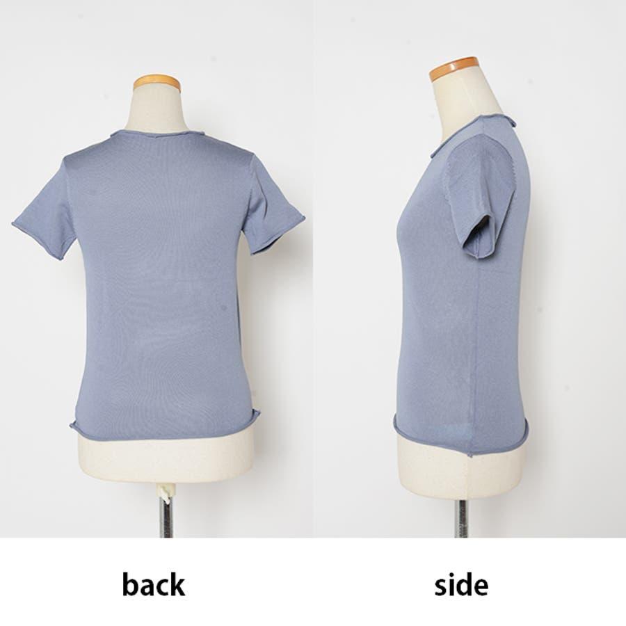 秋新作 薄手ニットトップス ma トップス カットソー レディース 薄手 Tシャツ シンプル 8