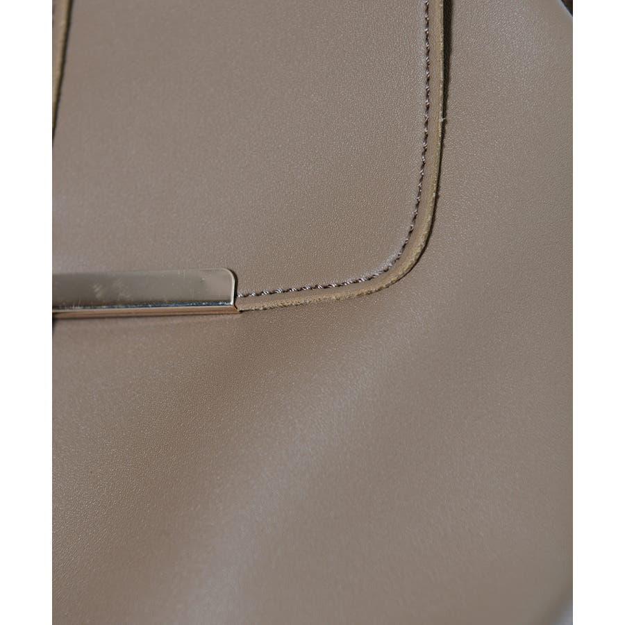 秋新作 ゴールドプレート付ボックスリュックサック バッグ 小物 レディース リュックサック バックパック リュック フェイクレザーボックス型 8