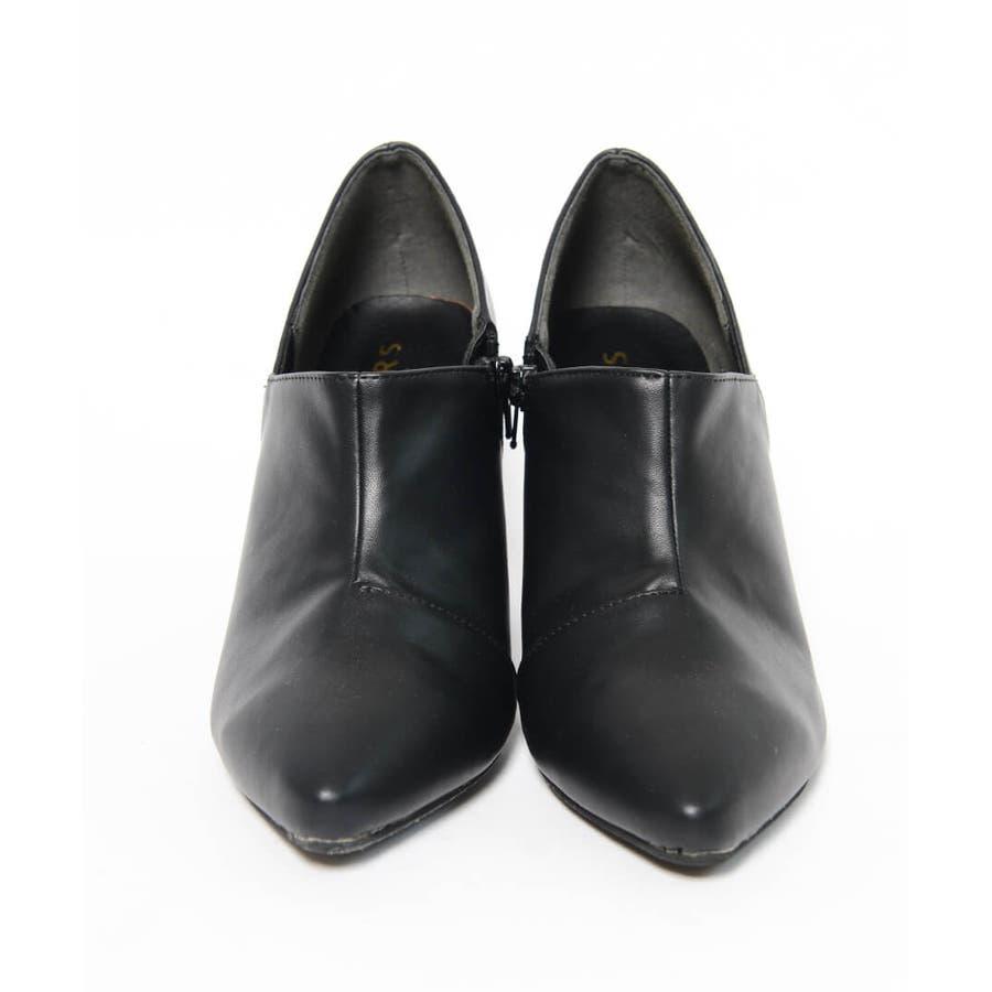 秋新作 アンクルカットショートブーツ 靴 シューズ ブーツ ショートブーツ ブーティ アンクル シンプル 8.0cm レディースヒール 3