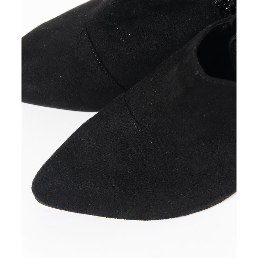 秋新作 アンクルカットショートブーツ 靴 シューズ ブーツ ショートブーツ ブーティ アンクル シンプル 8.0cm レディースヒール 7