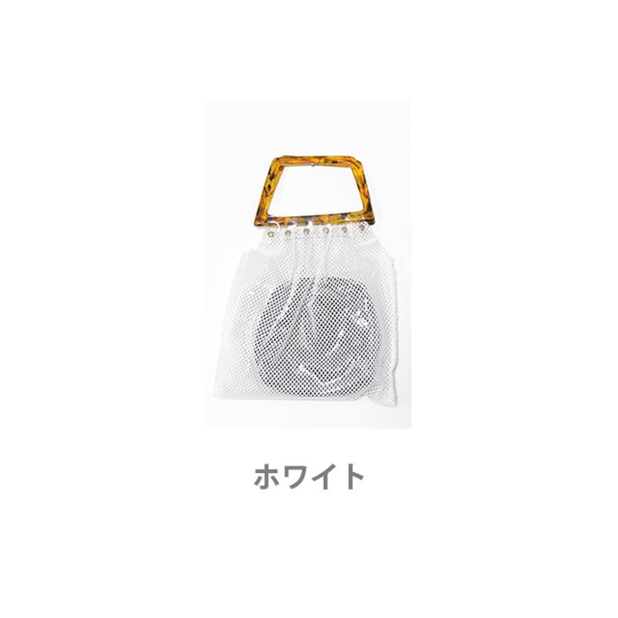 秋新作 鼈甲ハンドルpvcバッグ バッグ レディース クリアバッグ PVCバッグ PVC素材 シンプル ポーチ付き 9