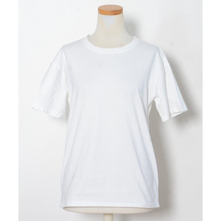 秋新作 ベーシッククルーネックTシャツ ma トップス レディース Tシャツ クルーネック ベーシック シンプル カラバリ豊富 2