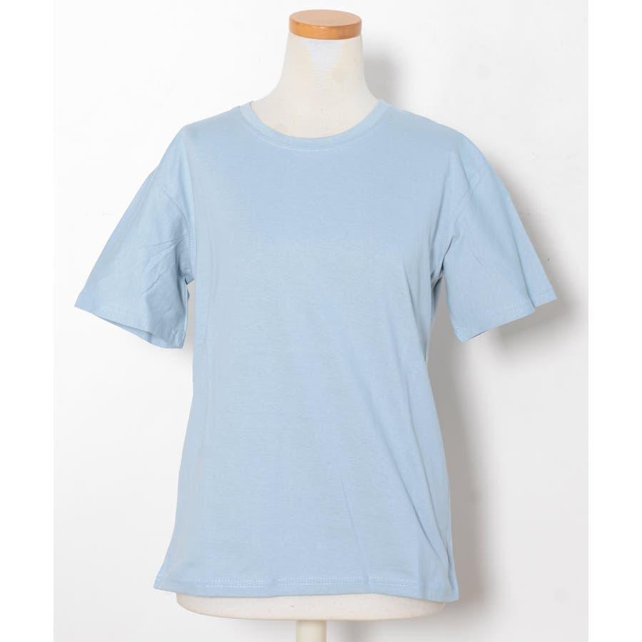 秋新作 ベーシッククルーネックTシャツ ma トップス レディース Tシャツ クルーネック ベーシック シンプル カラバリ豊富 3