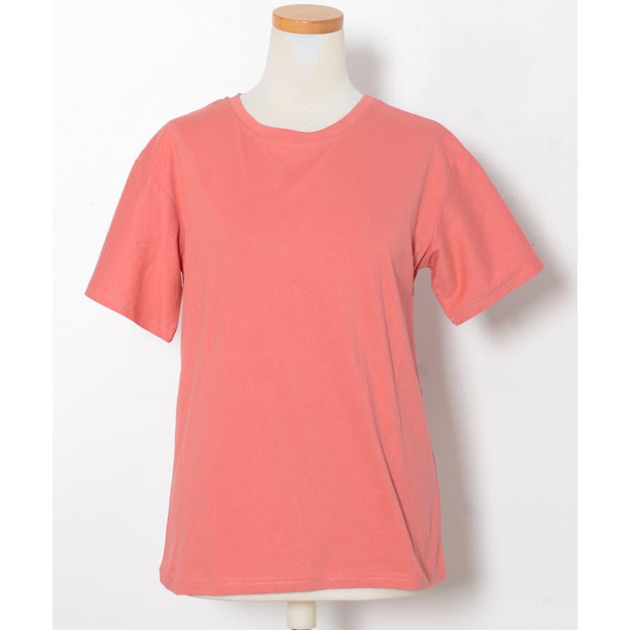 秋新作 ベーシッククルーネックTシャツ ma トップス レディース Tシャツ クルーネック ベーシック シンプル カラバリ豊富 4