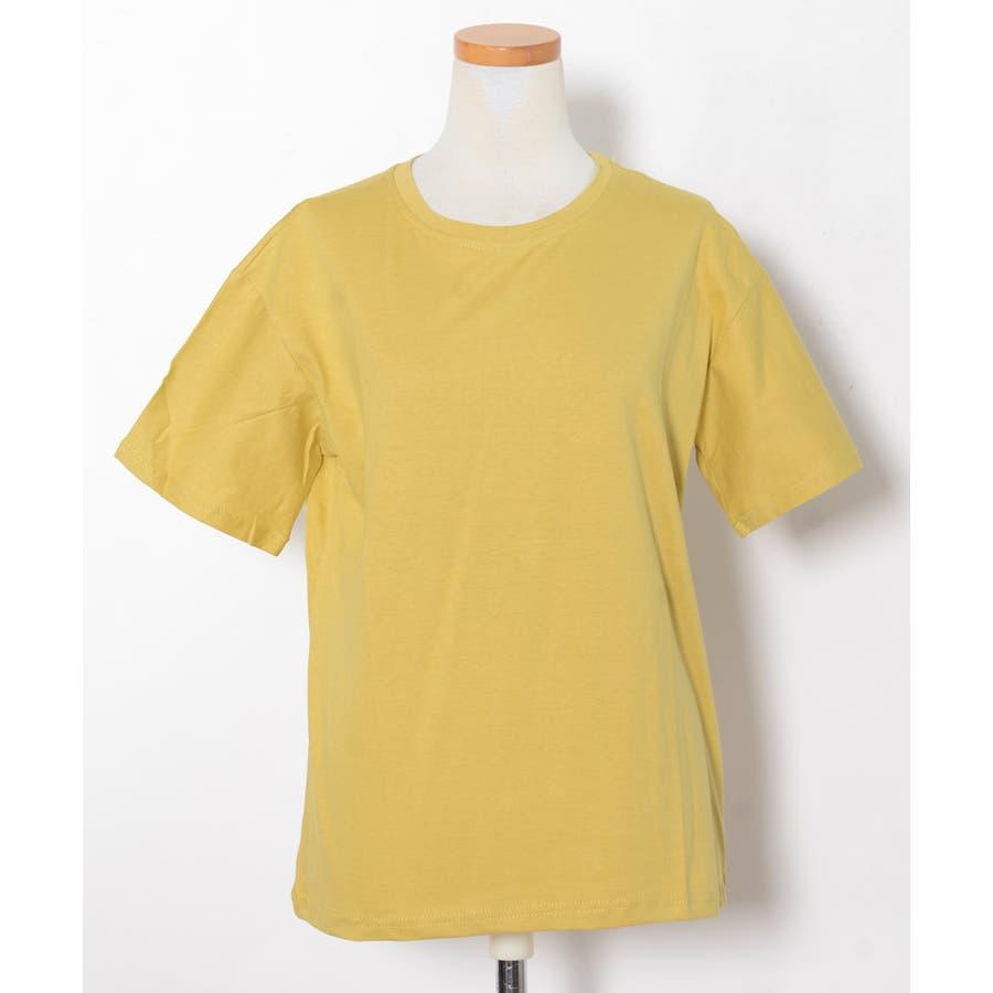 秋新作 ベーシッククルーネックTシャツ ma トップス レディース Tシャツ クルーネック ベーシック シンプル カラバリ豊富 5