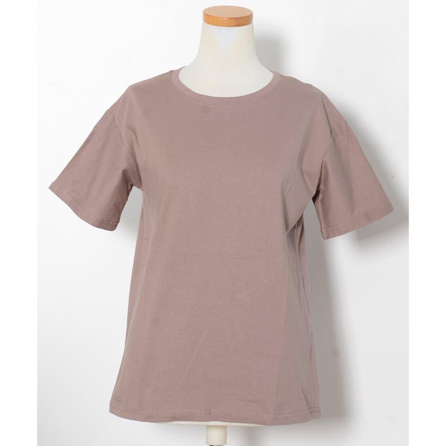 秋新作 ベーシッククルーネックTシャツ ma トップス レディース Tシャツ クルーネック ベーシック シンプル カラバリ豊富 6