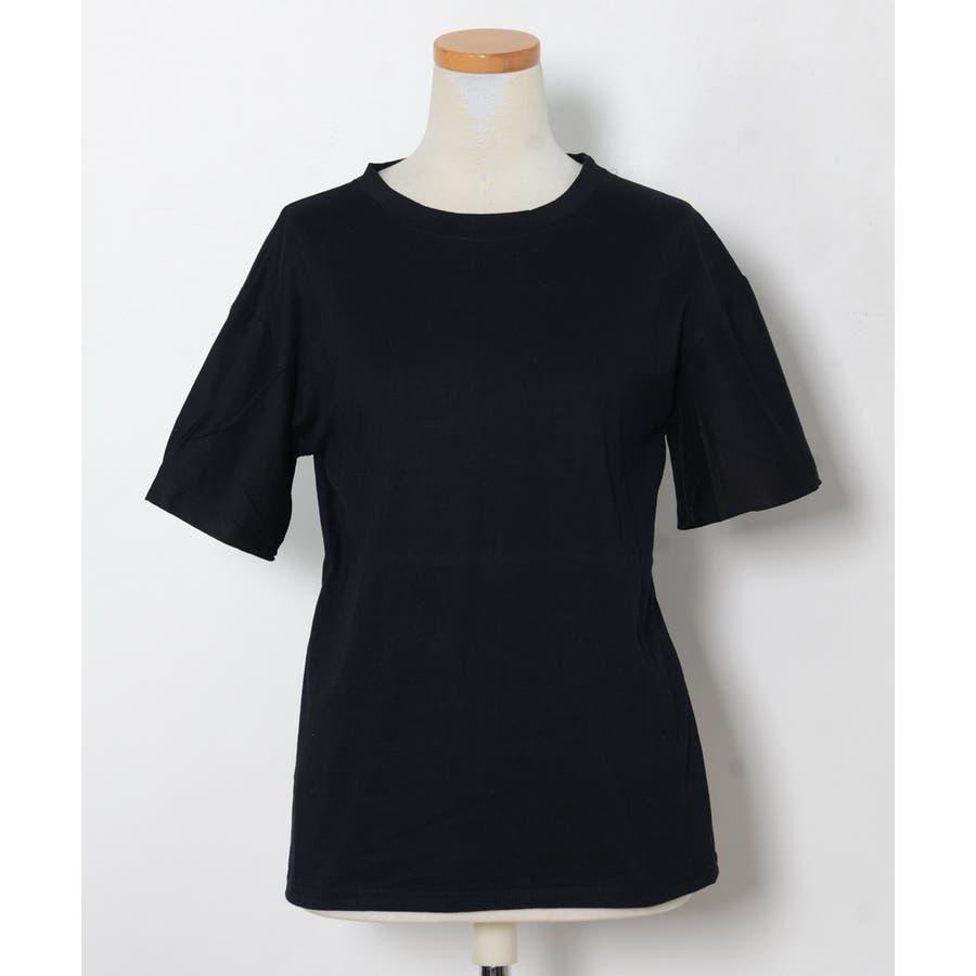 秋新作 ベーシッククルーネックTシャツ ma トップス レディース Tシャツ クルーネック ベーシック シンプル カラバリ豊富 7