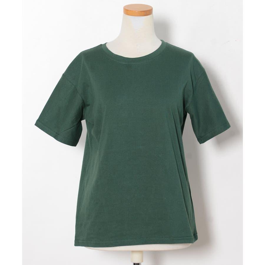 秋新作 ベーシッククルーネックTシャツ ma トップス レディース Tシャツ クルーネック ベーシック シンプル カラバリ豊富 8
