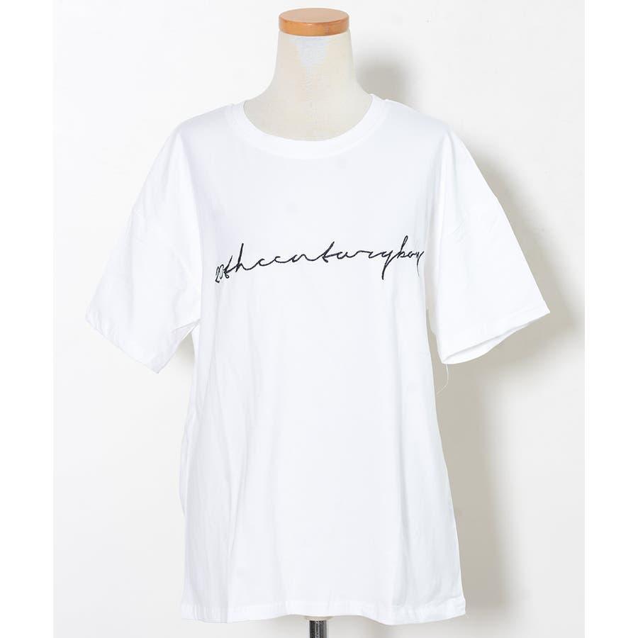 秋新作 BIGボックスロゴTシャツ ma トップス レディース Tシャツ ロゴT ビッグサイズ オーバーサイズ シンプル 2