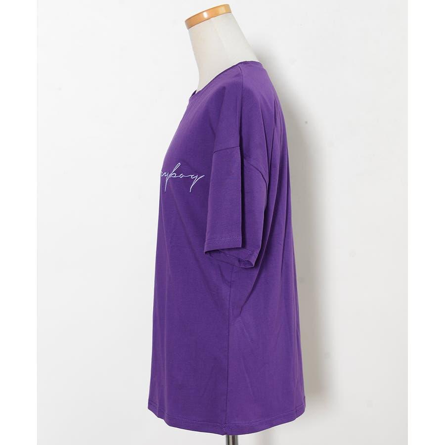 秋新作 BIGボックスロゴTシャツ ma トップス レディース Tシャツ ロゴT ビッグサイズ オーバーサイズ シンプル 4
