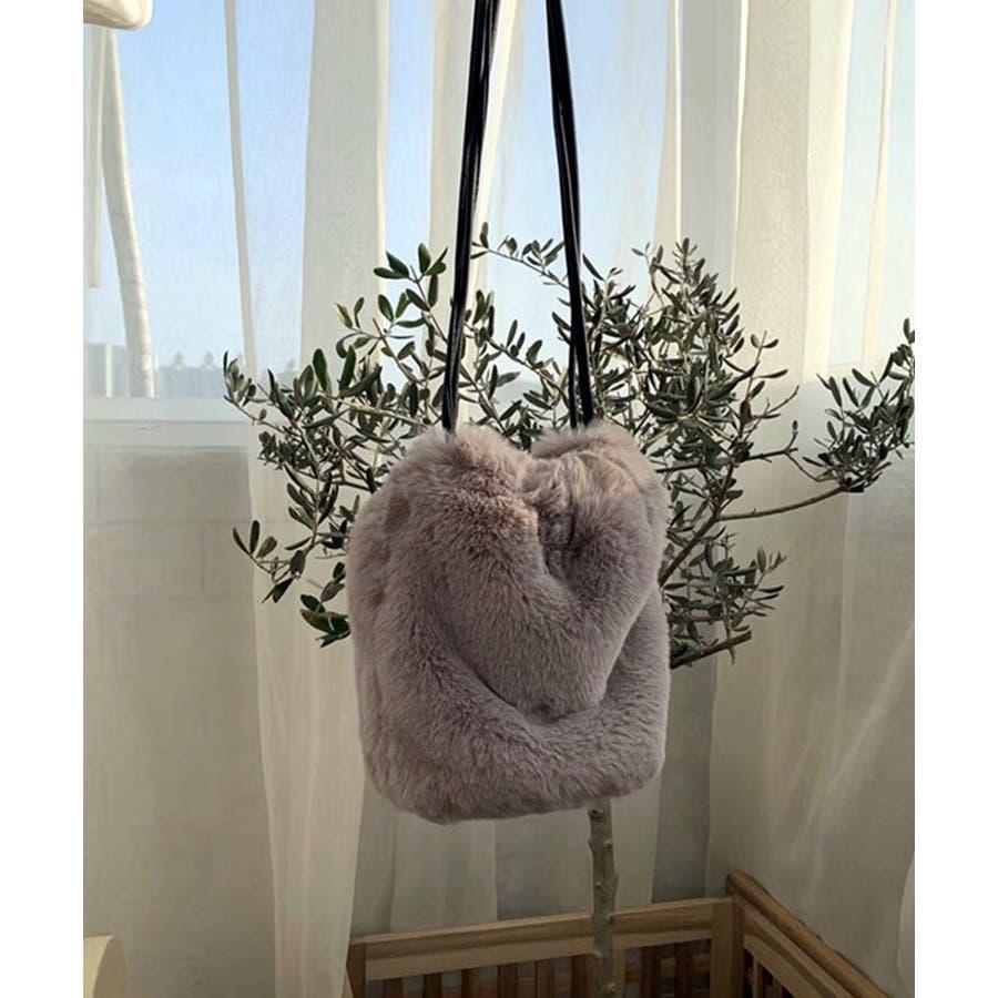 冬新作 ファーショルダーバッグ 鞄 バッグ ショルダー ミニバッグ ファー ファーバッグ レディース 韓国ファッション 25